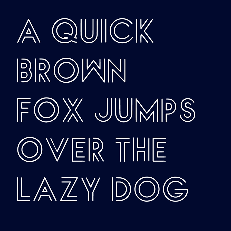Luxlineae Free Display Typeface