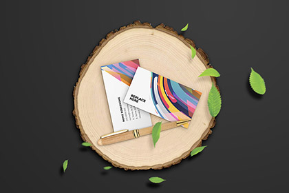 Free Wooden Stationery Mockup