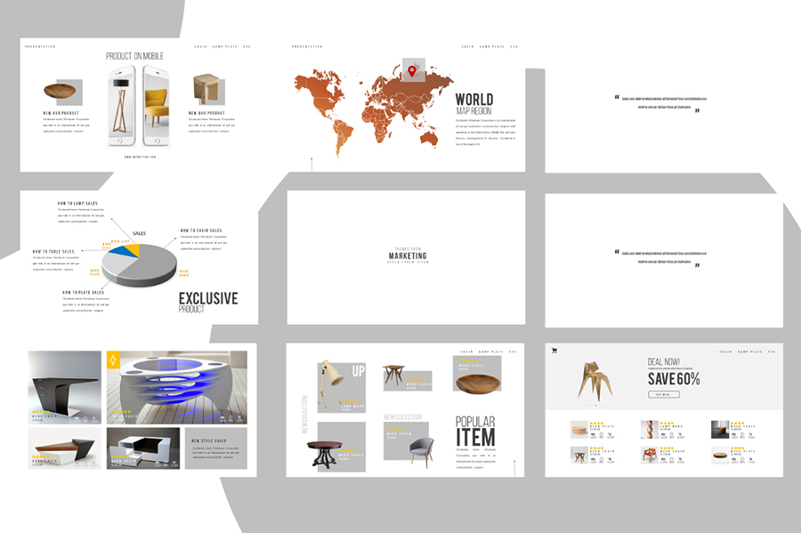 Market Free Presentation Template  Free Design Resources