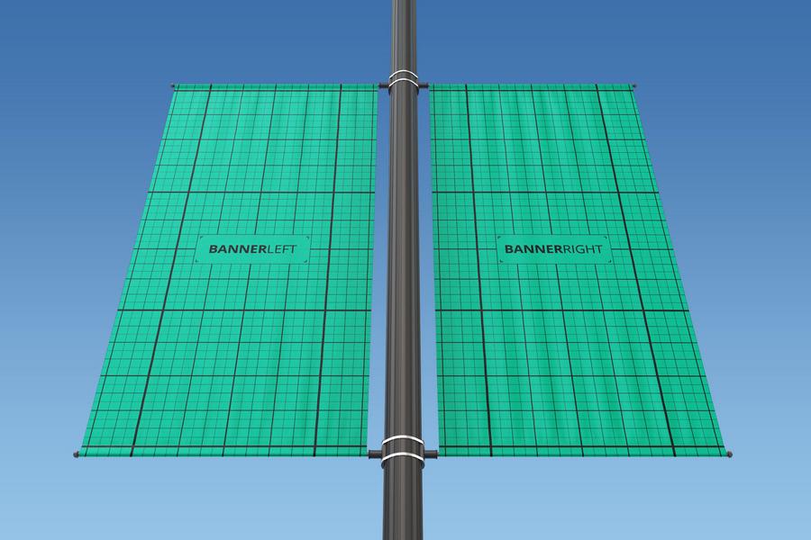 Rectangle Lamp Post Mocku-up
