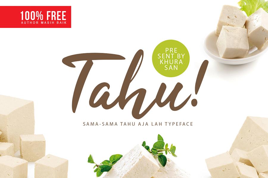 Tahu Script Free Typeface