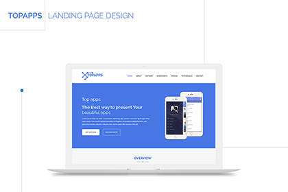 Topapps Free Landing Page