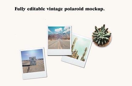 Free Vintage Polaroid Mockup