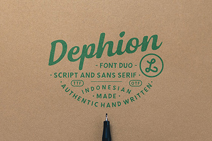 Dephion Handmade Font Demo