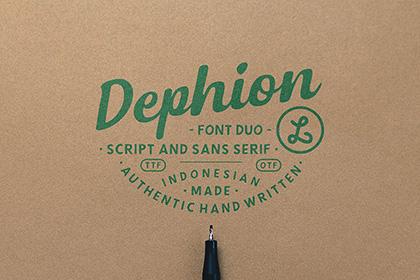 Dephion Handmade Font Demo