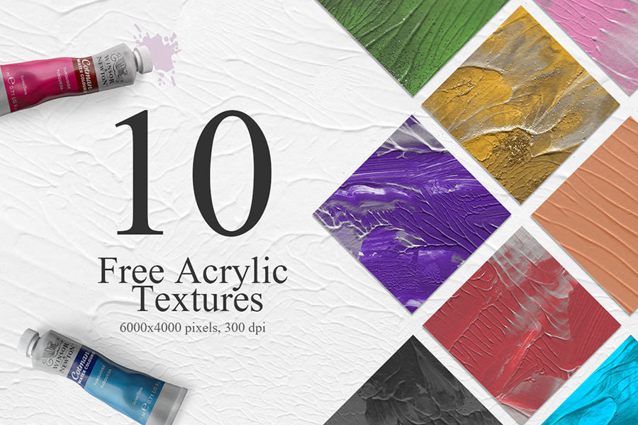 10 Free Colorful Acrylic Textures