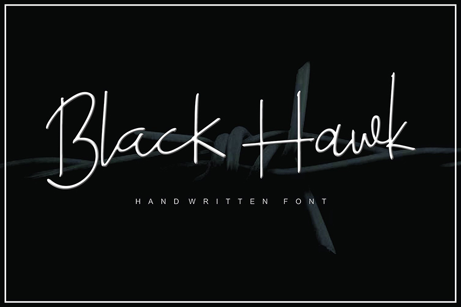 Black Hawk Stylish Font Demo