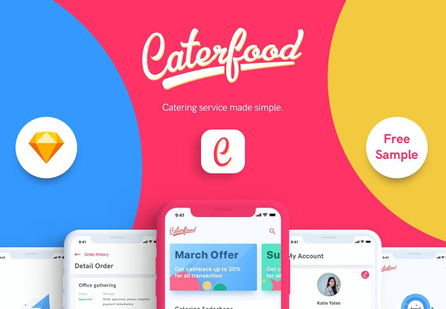 Caterfood UI Kit Free Demo