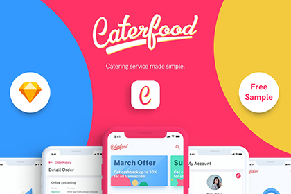 Caterfood UI Kit Free Demo