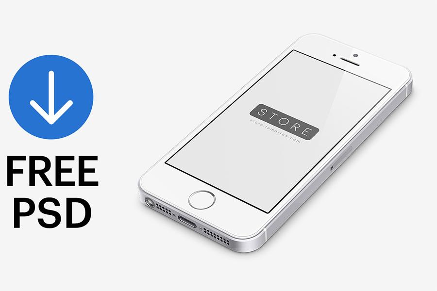 Free iPhone SE Mockup PSD