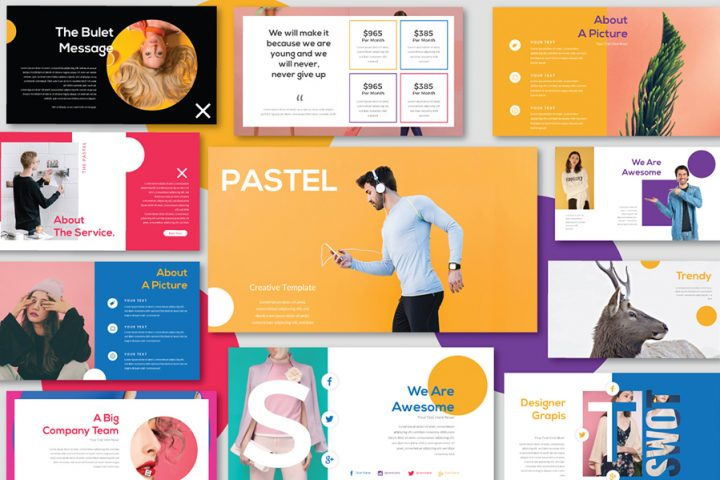 pastel free presentation template - Free Templates