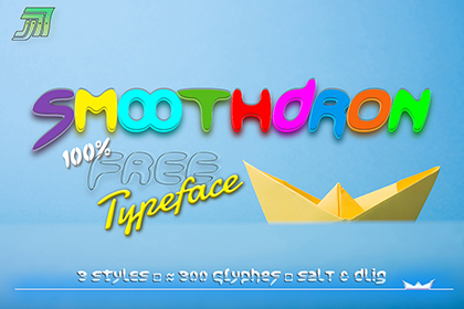 Smoothdron Free Display Font