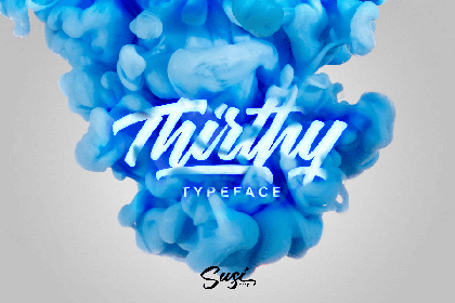 Thrithy Script Font Demo