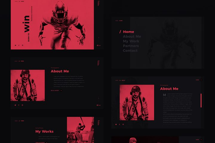 Thomas Oswald PSD Template