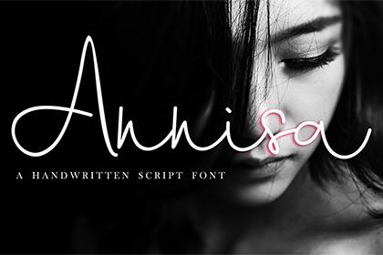 Annisa Handwriting Script Demo