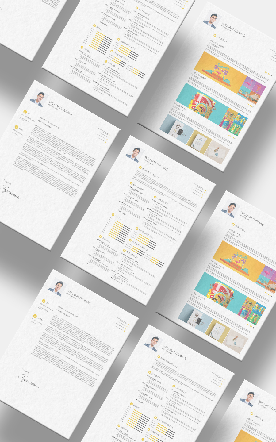 Free CV Resume Set Template