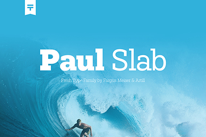 Paul Slab Font Family Demo