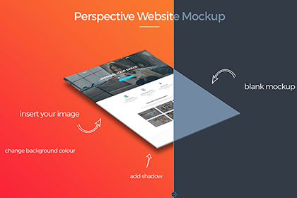 Free Pespective Website Mockup