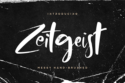 Zeitgeist Brush Font Demo