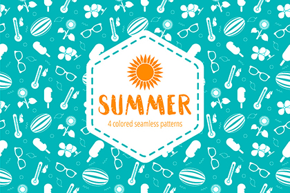 Free Summer Seamless Patterns