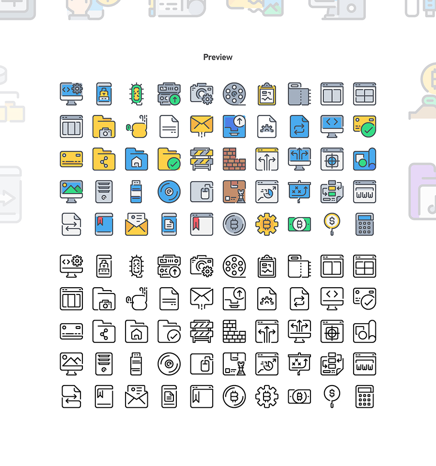 50 Free Simple Line Icons