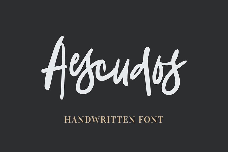 Aescudos Free Demo Font