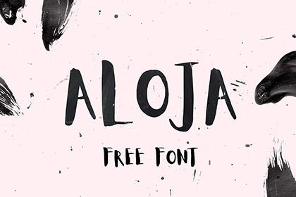 Aloja Free Handwritten Font