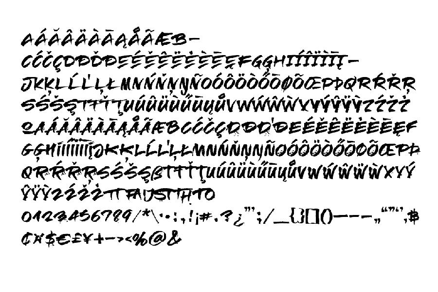 Relapse Free Brush Font