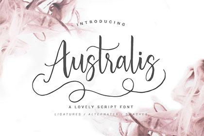 Australis Handwriting Font Demo