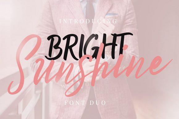 Bright Sunshine Font Demo