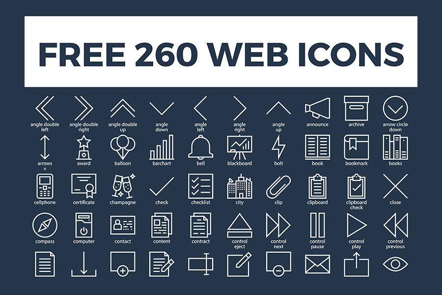 Free 260 Vector Web Icons