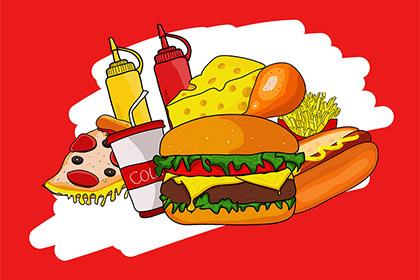 Free Hand-drawn Fast Foods