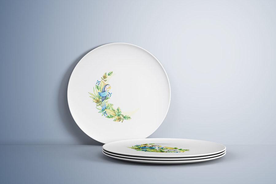 Free Plates Mockup PSD