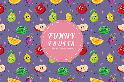 Free Fun Fruit Vector Pattern