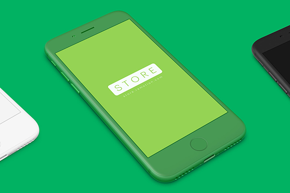Free iPhone Clay Mockup PSD
