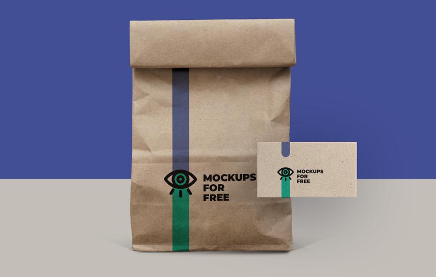 Free PSD Paper Bag Mockup