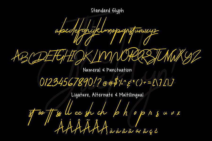 Jacklyn Signature Font Demo