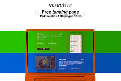 Vcreative Free PSD Template
