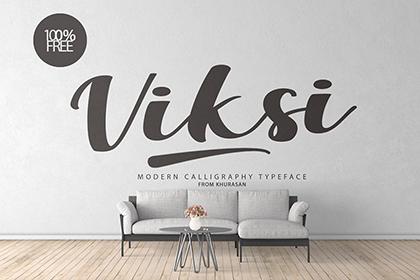 Viksi Free Script Typeface