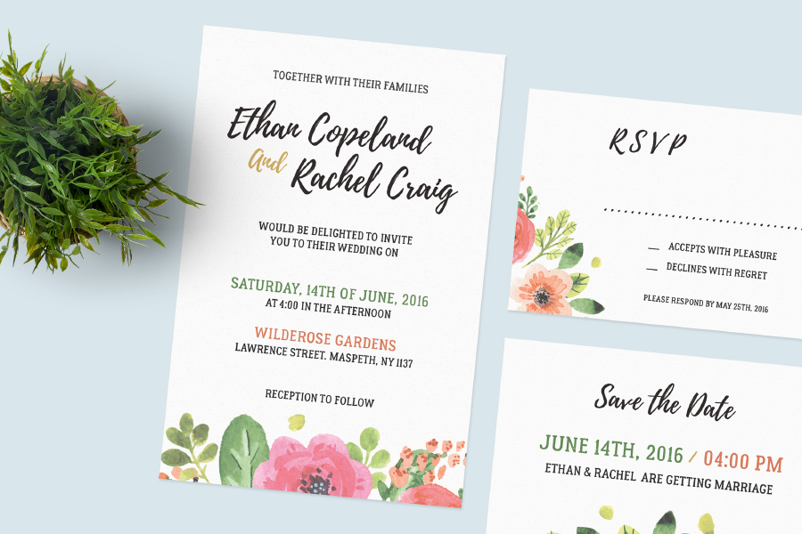 Free Wedding Invitation Set Free Design Resources