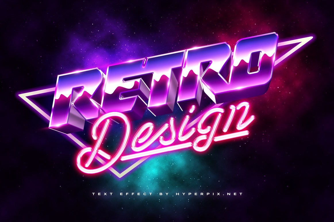 Free 3D 80s Text Effect
