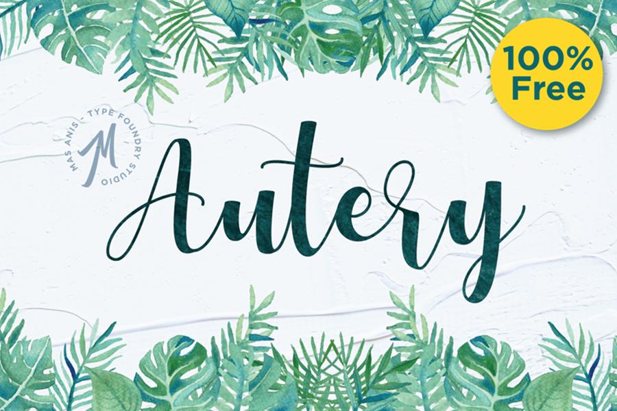 Autery Script Font Free