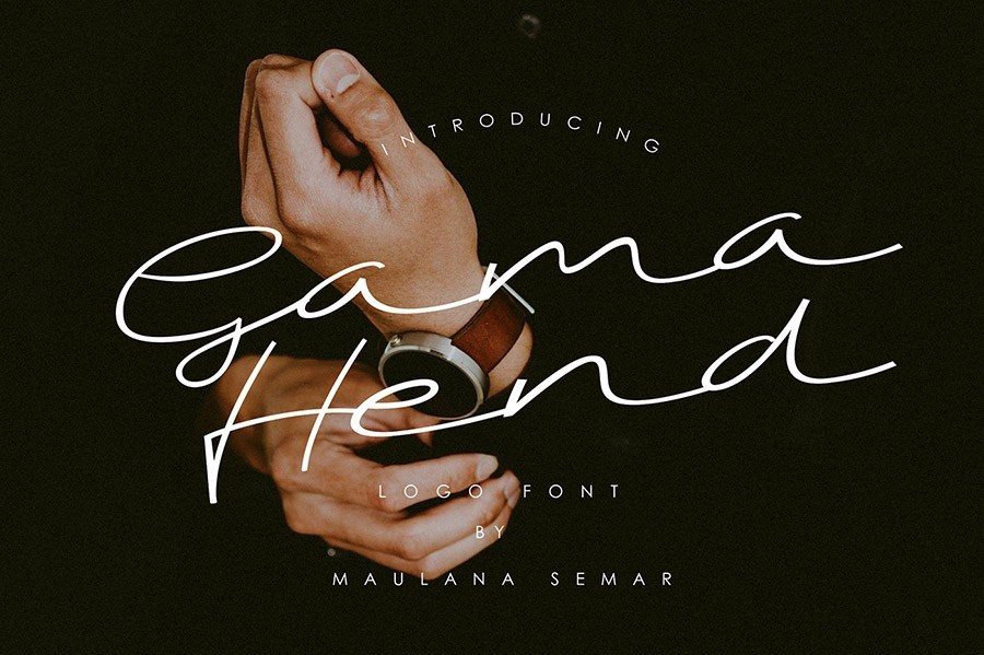 Gama Hend Handwriting Font