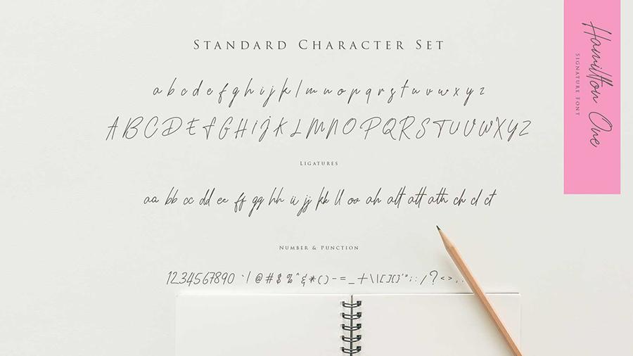 Hamillton Signature Font Demo