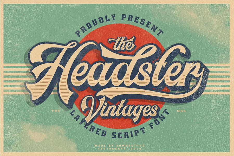 Headster Vintage Font Demo