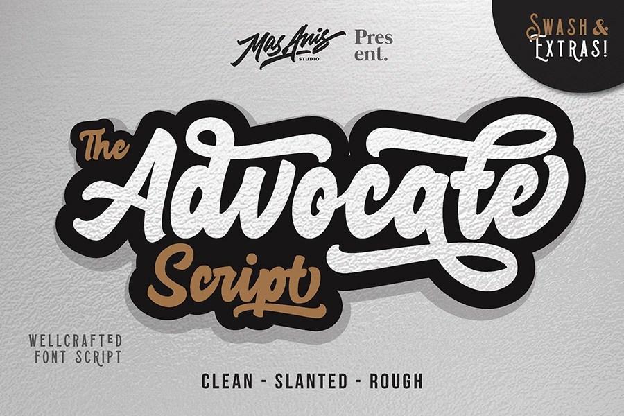 Advocate Script Font Demo