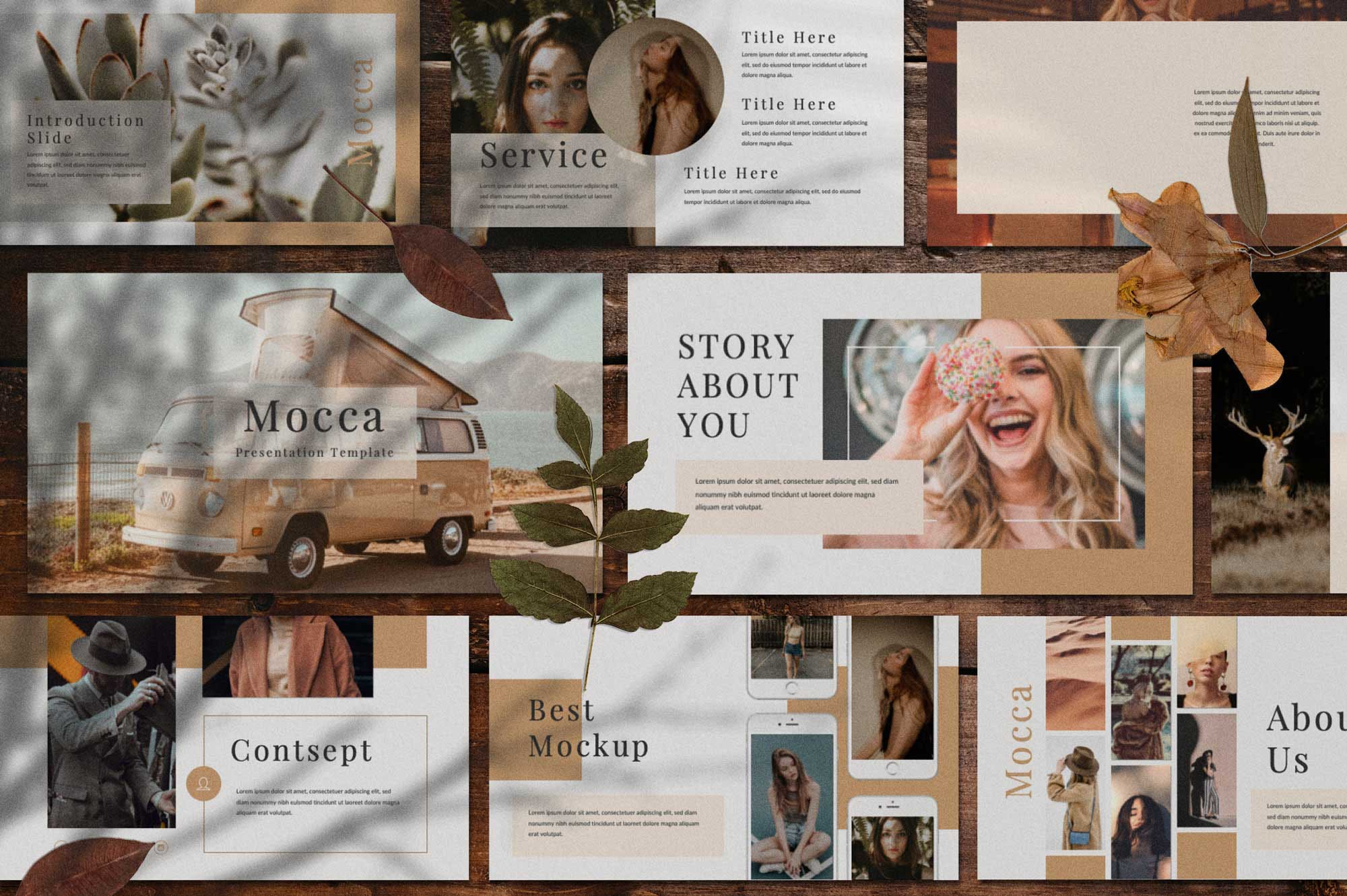 Mocca Free Powerpoint Template