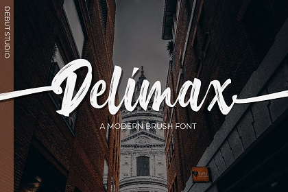 Delimax Brush Font Demo