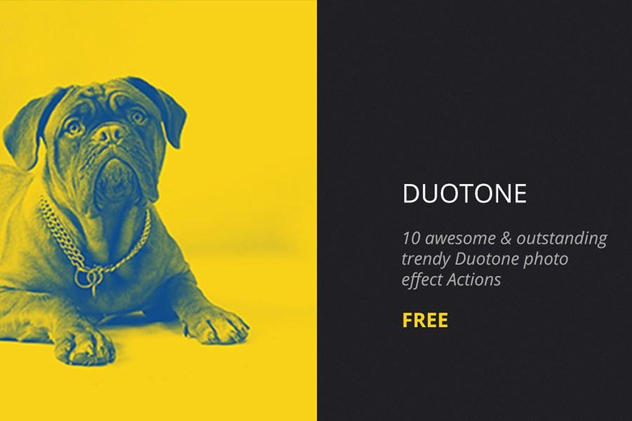 Duotone Photoshop Actions – Free Design Resources