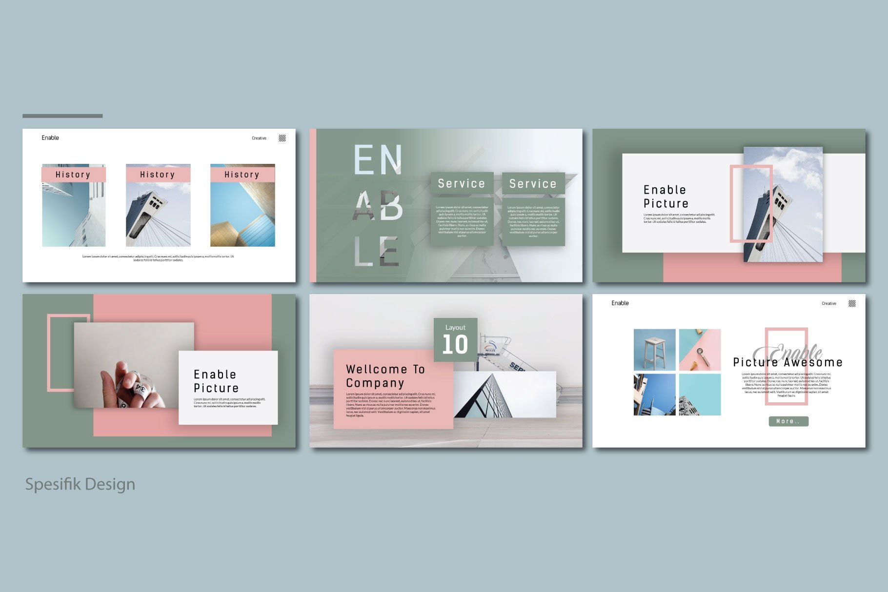 Enable Free Presentation Template